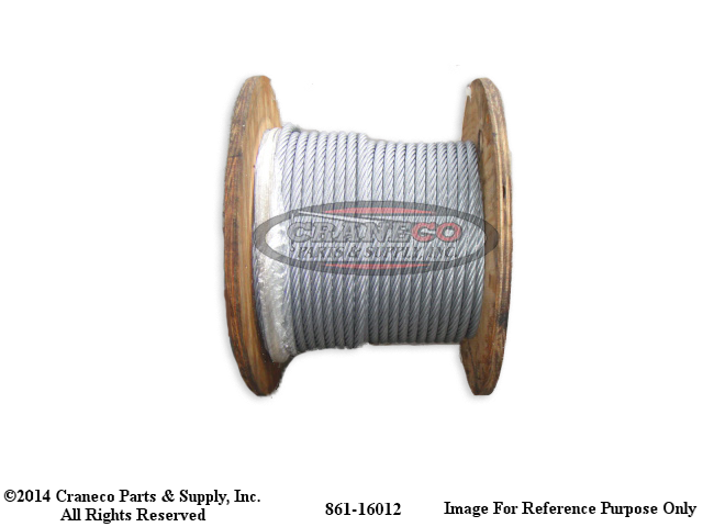 861-16012 Broderson Wire Rope 6X25 - quality crane parts from ...