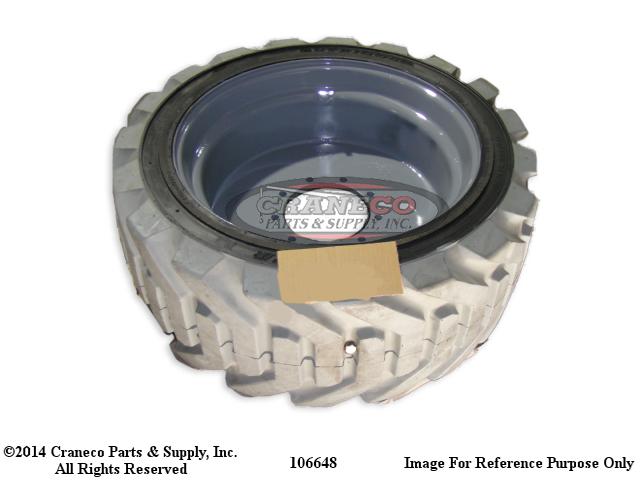 100648 Genie LH RT tire & Wheel FoamGenie Manlift