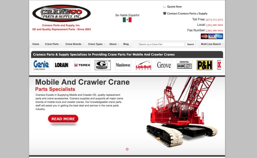 crane parts online