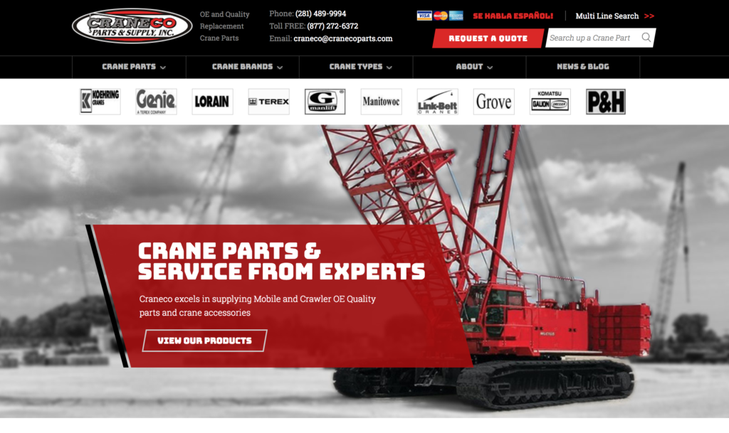 replacement crane parts