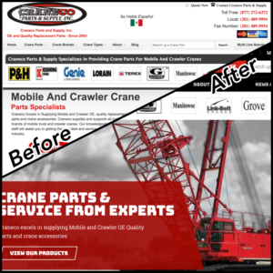 new crane parts website